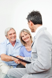 Financial Advisor with Clients
